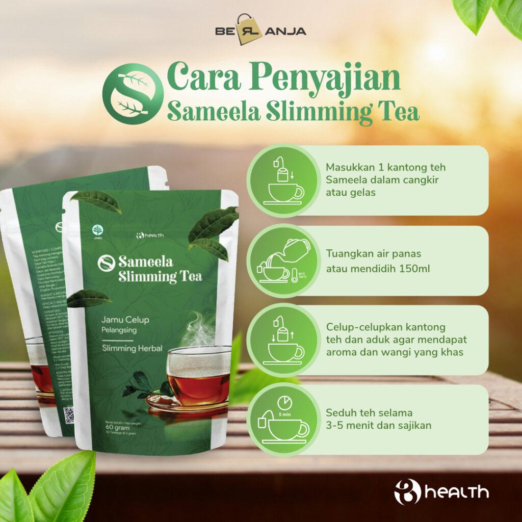 cara penyajian sameela slimming tea